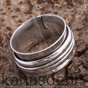 Jewelry - Sterling silver 3 band spinner ring meditation 6